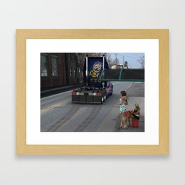 """""""Brake Check"""" Framed Art Print"""