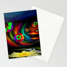 Good Luck - running time and luck Stationery Cards