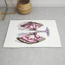 Pink Butterfly Lungs Rug
