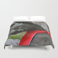 kitsune Duvet Covers featuring Kitsune Fox by Stevyn Llewellyn