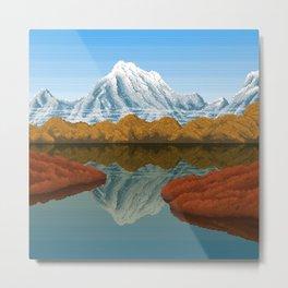 Mountain Lake - Fall Metal Print