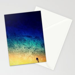 Sunset with Windmill Stationery Cards