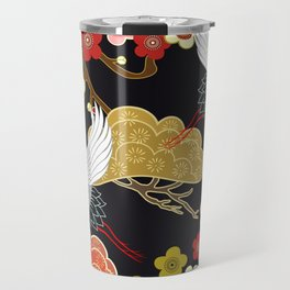 Japanese bird pattern Travel Mug