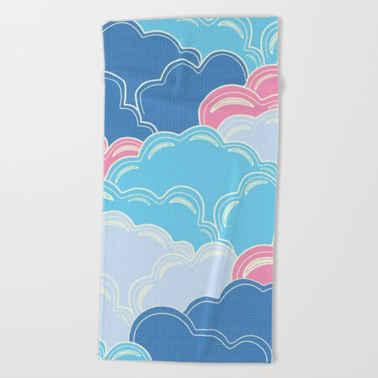 Pillows in the Sky (Clouds no.2) Beach Towel