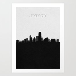City Skylines: Jersey City Art Print
