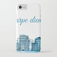 carpe diem iPhone & iPod Cases featuring Carpe Diem by Mankind Design