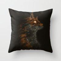 starfox Throw Pillows featuring StarFox by Dan Burgess