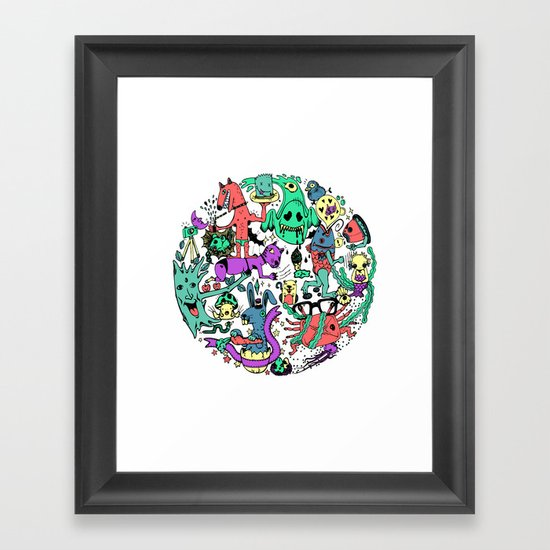 Vicious Circle Framed Art Print