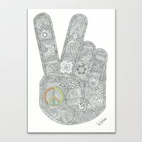 peace Canvas Prints featuring Peace by Ian Nicholson