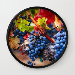 Fruit of Napa Valley Wall Clock