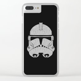 Trooper Grey Glittered Clear iPhone Case