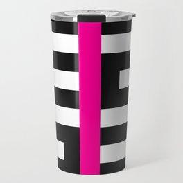 Licorice Bytes, No.17 in Black and Pink Travel Mug