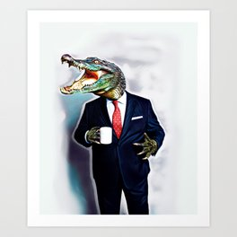 Business Croc Art Print