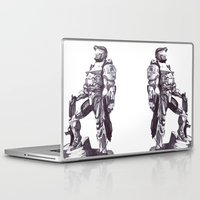 master chief Laptop & iPad Skins featuring Master Chief 117 by DeMoose_Art