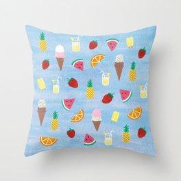 Summer Treats Throw Pillow