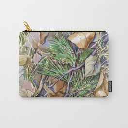 ground beneath my feet in autumn: twigs, pine needles, dry leaves, dry grass Carry-All Pouch