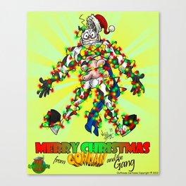Cowman Christmas Canvas Print