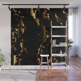 Black and Gold Marble Design Wall Mural
