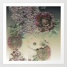 Metallic Botany Art Print