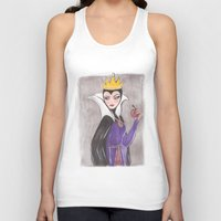 evil queen Tank Tops featuring The Evil Queen by carotoki art and love
