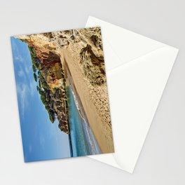 An empty Algarve beach Stationery Cards