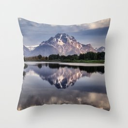 Mt. Moran and the Snake River Throw Pillow
