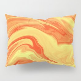 Orange Marble Cute Vibrant Design Pillow Sham