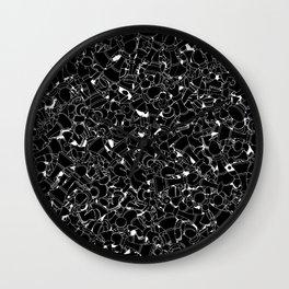 Chess Pattern BLACK Wall Clock