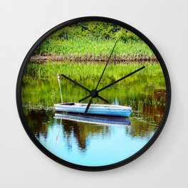 Boat on the Pond Wall Clock