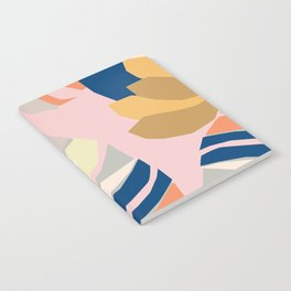Monstera leaf Jungle mid century modern paper collage Notebook