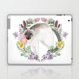 Pixie the Chocolate Siamese Cat Laptop & iPad Skin