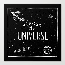 Across the universe #2 Canvas Print