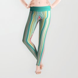 Candy Stripe Pastels Leggings