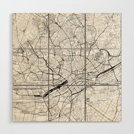 Frankfurt White Map Wood Wall Art