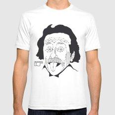 Albert Einstein Mens Fitted Tee MEDIUM White