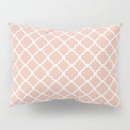 Modern coral white chic quatrefoil pattern Pillow Sham