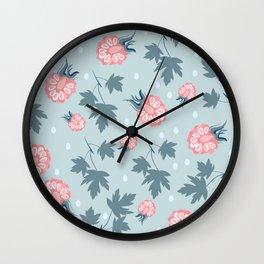 Fashion berries pattern design Wall Clock