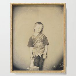 Photograph by Lewis Carroll Achilles in His Tent, 1875 Serving Tray