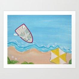 Rowboat at Shoreline Art Print