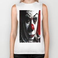 pennywise Biker Tanks featuring Pennywise by Alycia Plank