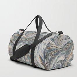 Metallic Marbled Agate Duffle Bag
