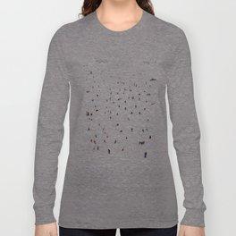 Winter vacation aquarelle Long Sleeve T-shirt