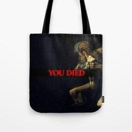 You Died Dark Soul Tote Bag