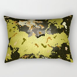 Abstract leaves mosaik Rectangular Pillow