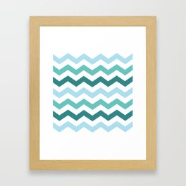 Chevron forest Framed Art Print