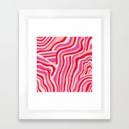 pink zebra stripes Framed Art Print