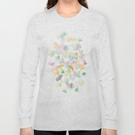 180713 Abstract Purple Yellow Decor 10  Watercolor Brush Strokes Long Sleeve T-shirt