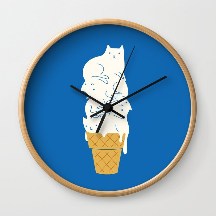 Cats Ice Cream Wall Clock