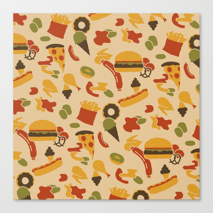 Fast Foodouflage Canvas Print
