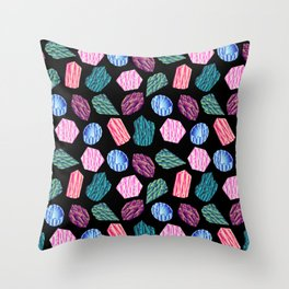 Low poly crystal pattern 1 Throw Pillow